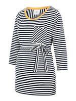 BNWT Mamalicious Maternity Breton Top 3/4 Sleeve Breton Stripe QUALITY