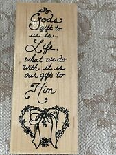 Embossing Arts Rubber Stamp 848-J Saying God's Gift