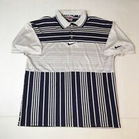 Vintage 90s Nike Striped Polo Gray Tag sz XL Rare