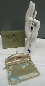 """LOVELY HONORA Collection  Indigo Necklace Stainless Steel  15"""" Long"""
