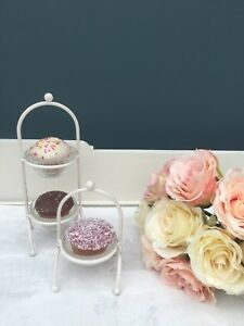 Shabby Vintage Chic Single or Double Cupcake Stands Afternoon Tea Party,Weddings