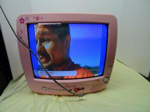 "Hello Kitty Pink 13"" Vintage Television TV HKTV13 CRT TV"