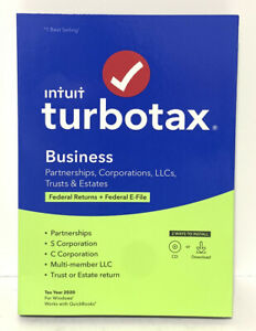 NEW Intuit TurboTax Business 2020 Tax Software for PC Windows * 608666 sealed