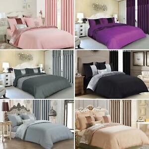Luxury Crushed Velvet Panel Duvet Cover and Pillow Cover Bedding Set