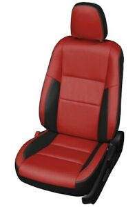 2013-2018 Toyota RAV4 LE Katzkin Black and Red Leather Seat Replacement Covers