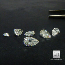 0.26 CT. Natural Pear Shape Loose Diamond Color F Clarity SI1 Cut Earrings Real