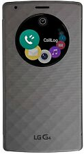 LG Quick Circle Slim Folio Book Cover Hard Shell Case for LG G4 (Matte Sliver)