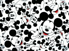FAT QUARTER  DISNEY FABRIC MICKEY MOUSE FACES QUILTING 100% COTTON MATERIAL  FQ