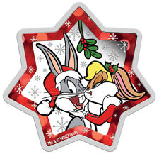 2018-P Tuvalu Looney Tunes Christmas Star Shaped 1 oz Silver GEM Proof SKU55564