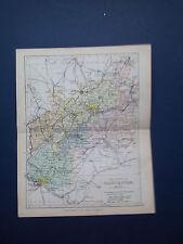 HEREFORD mappa con Le Ferrovie-Antico PHILIPS colorate data 1898 app 7inx 9 in (ca. 22.86 cm)