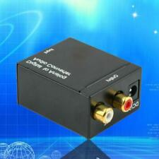 3.5mm Digital to Analog Audio Converter Adapter W/ Fiber Cable RCA Out opt L0C0