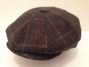 PEAKY BLINDERS GREEN FLECK RED CAP PEAKED PEAK NEWSBOY BAKER BOY 8-PIECE CAP