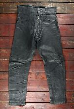 VTG 70s LEWIS LEATHERS BLACK MOTORCYCLE RIDER PANTS JEANS TROUSERS BIKER W28 L27