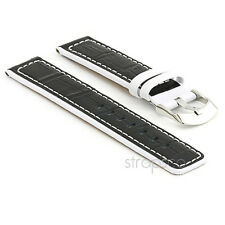 StrapsCo Crocodile Print Leather Watch Strap mens or womens Alligator Croc Band