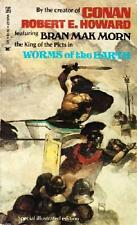 WORMS OF THE EARTH ~ SPECIAL ILLUS ED ~ ROBERT E HOWARD ~ 1st PRINT ~ VINTAGE PB