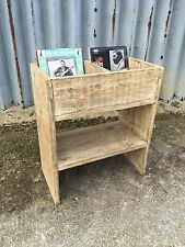 Up-cycled Rustic Record Display Unit.