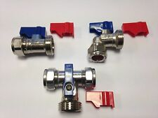 WASHING MACHINE/DISHWASHER VALVE HOT & COLD WATER C/P VALVE TAP