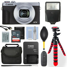 Canon PowerShot G7X Mark III Digital Camera Silver+ 32GB Deluxe Accessory Packag