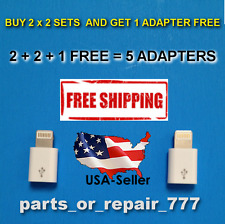 micro usb to lightning adapter US seller 2pcs US seller