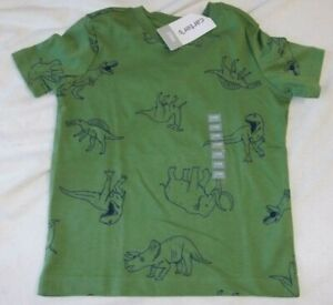 NWT Carter's Toddler Boys 24M DINOSAURS Tee Green Short Sleeve 100% Cotton