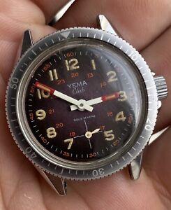 Montre Yema Club Sous Marine Mécanique Manuel Vintage
