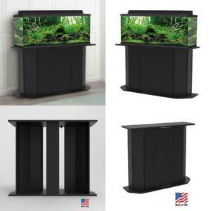 Wooden Fish Tank Stand Hinged Door Conceal Storage Moisture-Resistant 38/55 Gal