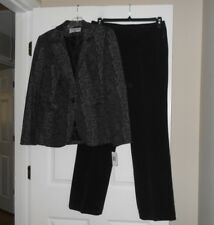 Sharagano Suits ladies size 8 two piece pant suit faux snakeskin print NWT