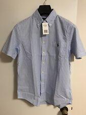 Polo Ralph Lauren Men Shirt Blue Striped New (S)