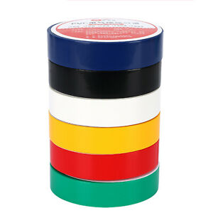Electrical PVC Insulation Insulating Tape Flame Retardant Coloured 18mm X 9m