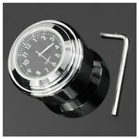 "7/8"" 1"" Universal Motorcycle Bike Handlebar Mount Dial Clock Waterproof V9X7"
