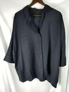 COS Short Sleeve Oversized Top Size Medium Women's Black Used