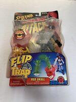 Spider-Man Sneak Attack Flip Trap Red Skull Action Figure Marvel ToyBiz 1998 NEW