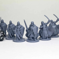 Townsfolke Military Dungeons and Dragons DnD D&D Mini 28mm 32mm