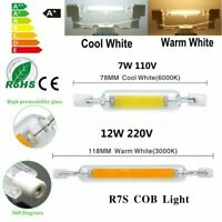 R7S LED Flood Light Bulb 7W 12W Replacement for Halogen Lamps 78/118mm 110V/220V