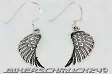 Bikerschmuck Ohrhänger Engelsflügel Angel Wings 925 Silber Ohrringe Geschenk NEU