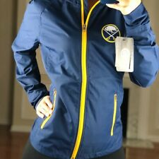 Buffalo Sabres Hooded Lightweight Windbreaker Jacket Navy Blue Women's L NHL