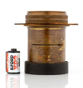 Brass lens Voigtlander Euryscop IV , No. 4 aplanat 360mm F7.2 ULF 10x12 11x14