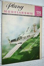 AVIATION PLANY MODELARSKIE 119 1984 MODELISME PLANS AVION ZLIN 42-M CSSR VOLTIGE