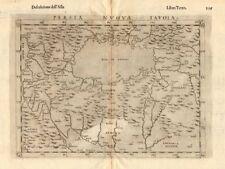 'Persia Nuova Tavola'. New map of Persia. Iran & Caspian Sea. RUSCELLI 1598