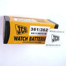1 x JCB 361 362 Silver Oxide SR721W 1.55V Watch Battery