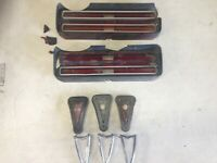 1968 Pontiac GTO 3 Quarter Panel Marker Light Bezels Housings 2 taillight lens