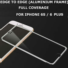 Tempered Glass Screen Protector Aluminium Edge Silver for iPhone 6S Plus/6 Plus