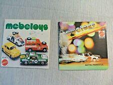 2 Catalogues Mebetoys Mattel - Petit catalogue voitures miniature Mebetoys
