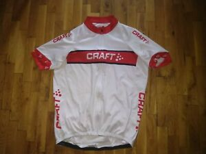 Cycling shirt jersey tricot Craft ventilation full zipper silicon grippe size XL