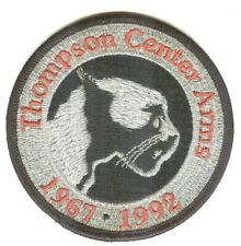 Thompson Center Arms 1967-1992 25th Anniversary Silver Embroidered Cloth Patch