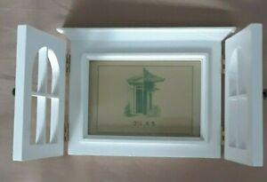 NEW in Box White Chatham Shutter Door Frame 5 x 6 Photo 3.5 x 5