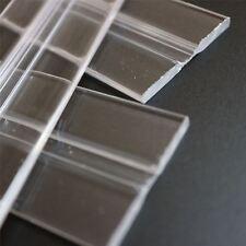 3 x 200mm basso profilo flex cerniere, flessibile LIVING cerniere, plexiglass, trasparenti
