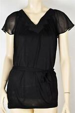 NWT WHITE HOUSE BLACK MARKET CHIFFON SLEEVE PEASANT TOP S