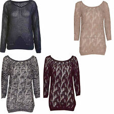 Unbranded Women's Chunky, Cable Knit Knit Scoop Neck Jumpers & Cardigans