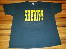 Vtg 2 sided 1980s Sheriffs Office spelled out Logo T Shirt Single Stitch Xl